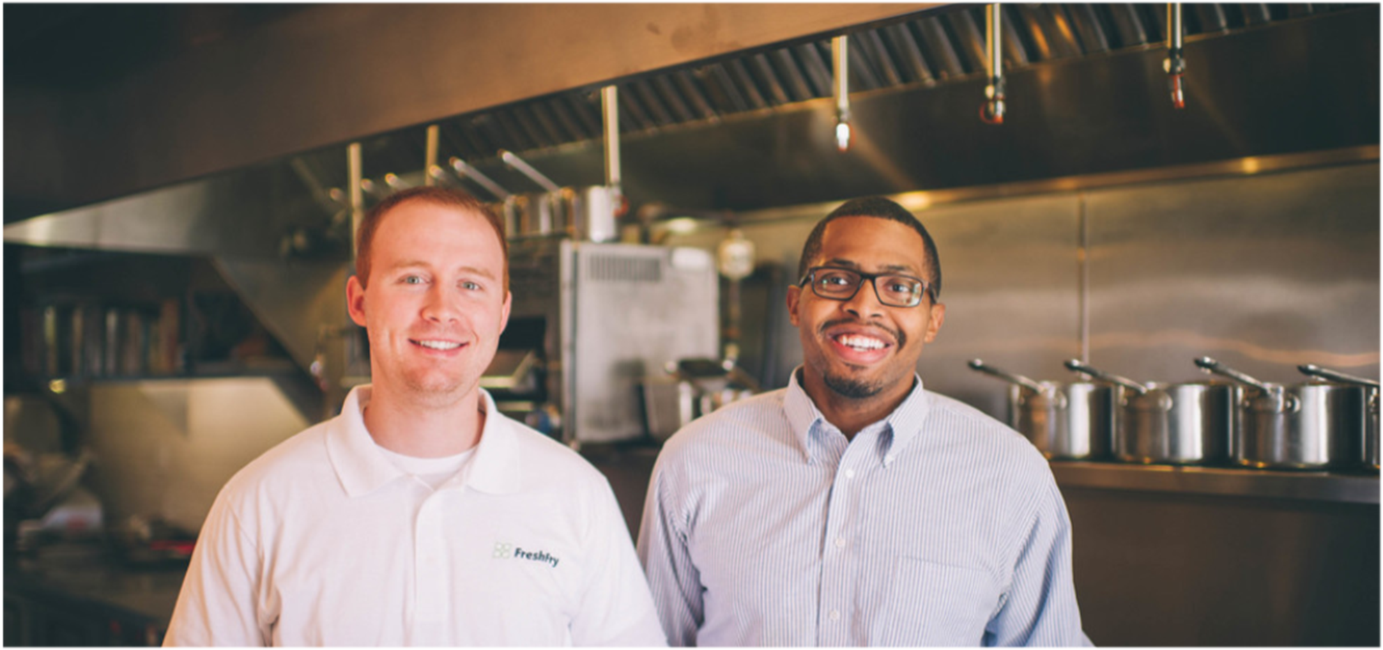 FreshFry. Jeremiah Chapman on the right, Jacob Huff, cofounder and COO, on the left.